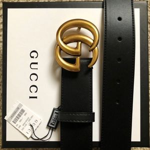 »New Gucci Belt Authėntic Double G Marmot GG